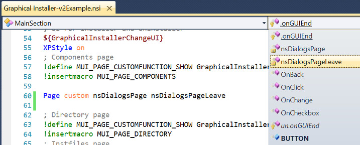 Custom Page creator and leave functions