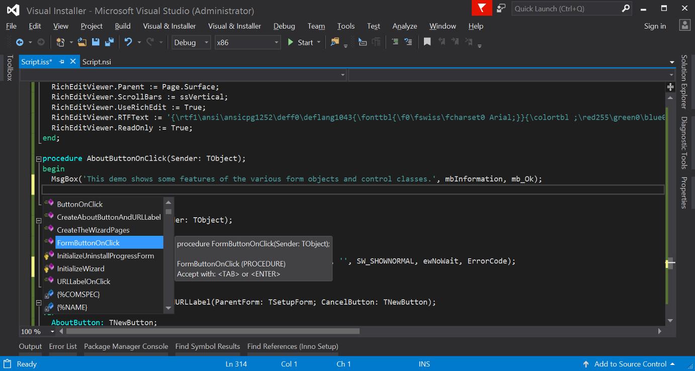 Visual & Installer - Changelog