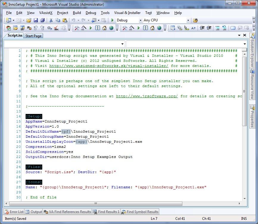 Visual & Installer - F A Q
